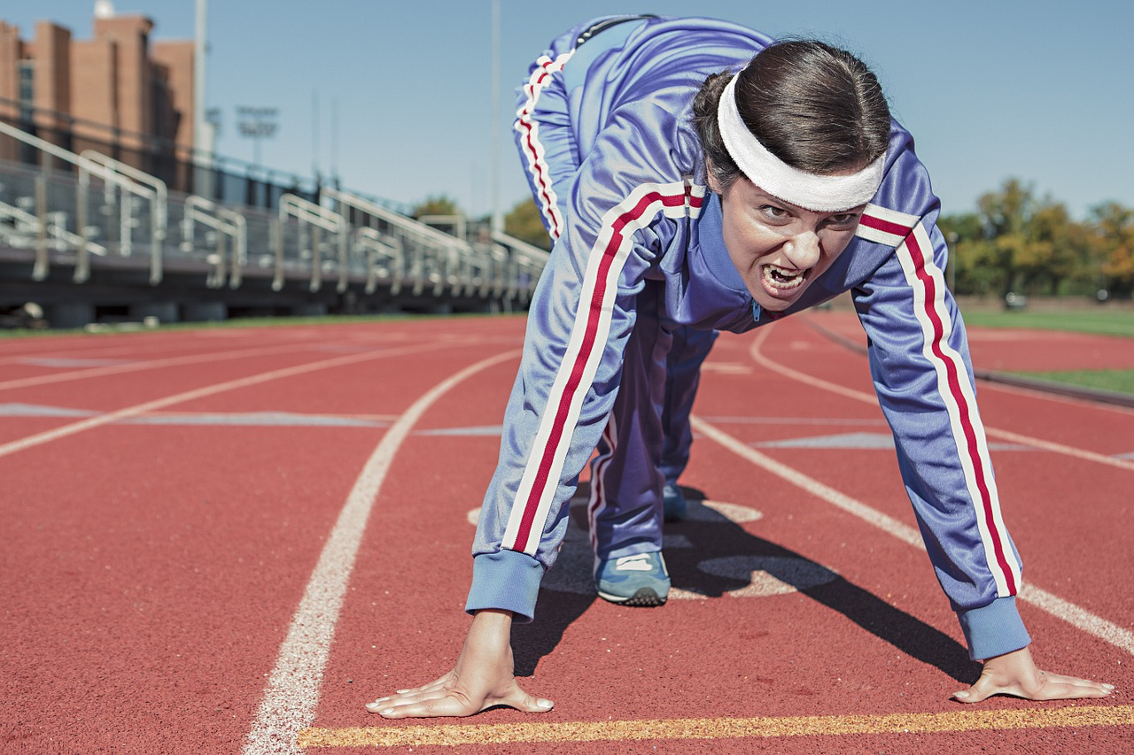 run track start position with face