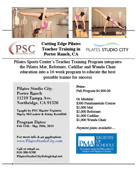 Pilates Teacher Training in Porter Ranch this Spring!