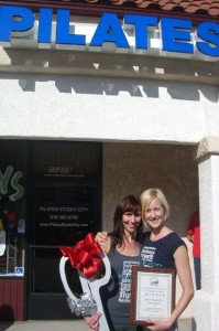 Lora & Nikki setting up shop!